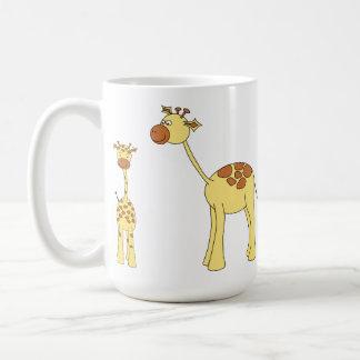 Baby and Adult Giraffe. Basic White Mug