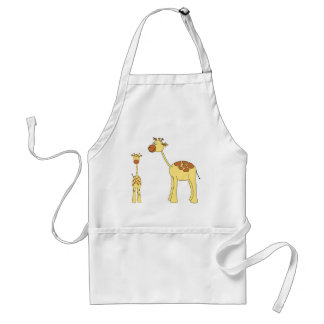 Baby and Adult Giraffe. Standard Apron
