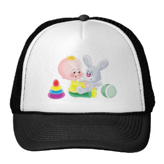 Baby and bunny mesh hats