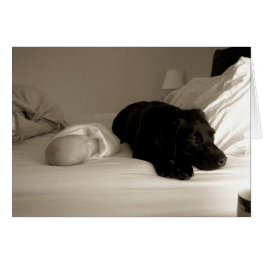 Baby and dog card