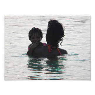 baby and mother silhouette photo art