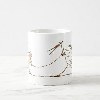 Baby and Stork Coffee Mug