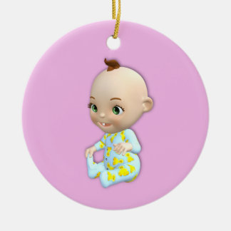 Baby and Teddy Bear Ornament