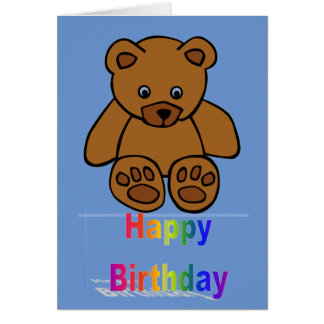 Baby and Toddler Happy Birthday Card