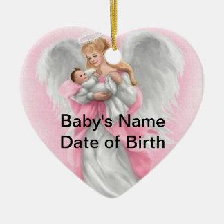 Baby Angel (Girl) Heart Ornament