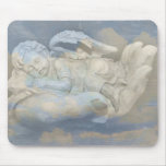 Baby Angel Wings Sleeping in God's Hand Mouse Pad
