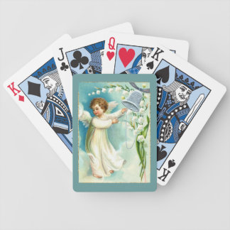 Baby Angel With Blue Bell Poker Deck