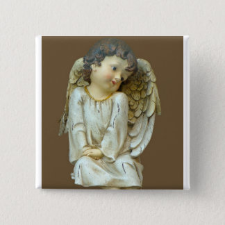 Baby Angel with wings 15 Cm Square Badge