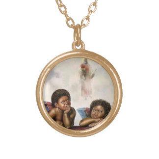 Baby Angels Gold Plated Necklace