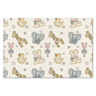 Baby Animal Elephant Pig Duck Giraffe Tissue Paper