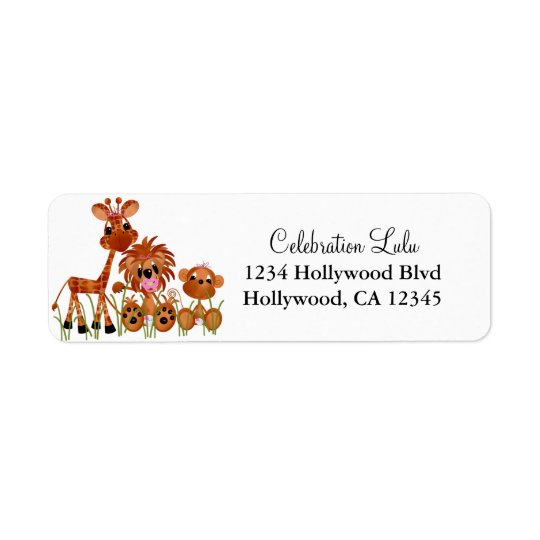 Baby Animal Return Address Label