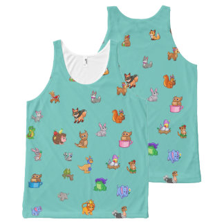BABY ANIMALS All-Over Printed Unisex Tank, All-Over Print Tank Top