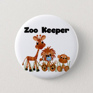Baby Animals Zoo Keeper Tshirts and Gifts 6 Cm Round Badge