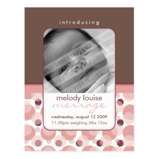 BABY ANNOUNCEMENT ::  hello baby 3 Postcard