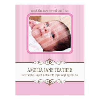 BABY ANNOUNCEMENT ::  preciousness 1 Postcard