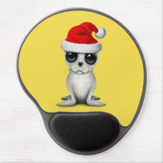 Baby Arctic Seal Wearing a Santa Hat Gel Mouse Pad