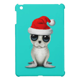 Baby Arctic Seal Wearing a Santa Hat iPad Mini Cases