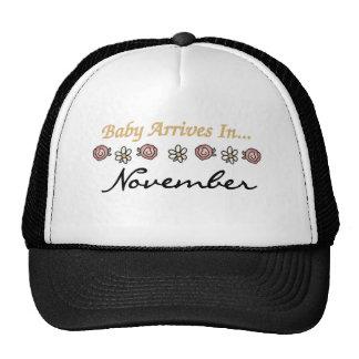Baby Arrives in November Trucker Hat