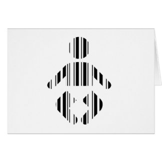 BABY BAR CODE Toddler Barcode Pattern Design Card