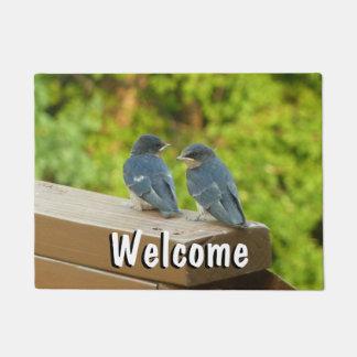 Baby Barn Swallows Nature Bird Photography Doormat
