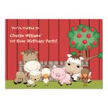Baby Barnyard Buddies Birthday Party  Invitation 13 Cm X 18 Cm Invitation Card