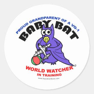 Baby Bat Grandparent small sticker