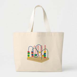 Baby Bead Toy Jumbo Tote Bag