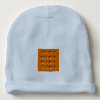 Baby beanie blue with  Folk design