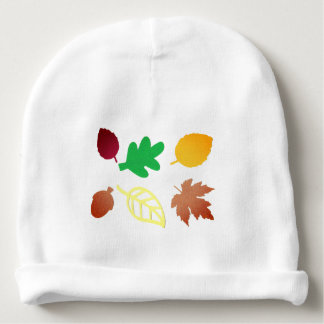Baby Beanie with Colourful Leaves