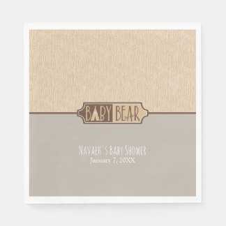 """""""Baby Bear"""" Baby Shower Personalized Paper Napkin"""
