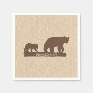 """Baby Bear"" Baby Shower - Personalized Paper Serviettes"