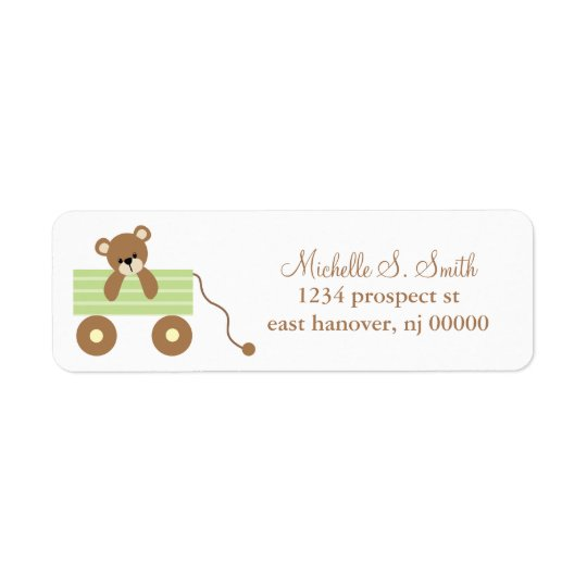 Baby Bear Baby Shower Return Address Label