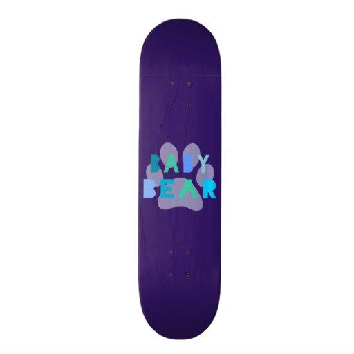 Baby bear - blue skate boards