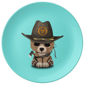 Baby Bear Cub Zombie Hunter Plate