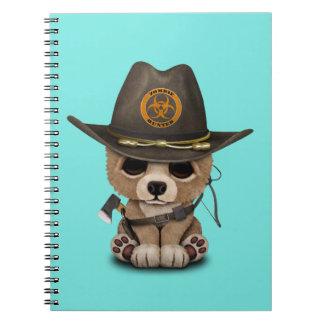 Baby Bear Cub Zombie Hunter Spiral Notebook