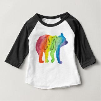Baby Bear Family Pride Watercolor Raglan Tee