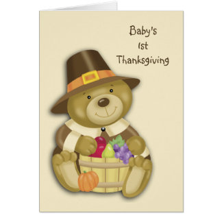 Baby Bear First Thanksgiving Greeting Card