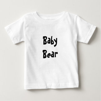 Baby Bear Mother's / Father' Day Gift - Black text Tshirt