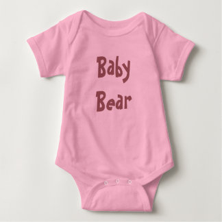 Baby Bear Mother's / Father' Day Gift - pink shirt