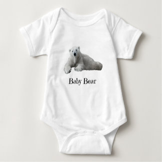 Baby Bear (part of Dad & Me!) black text Baby Bodysuit