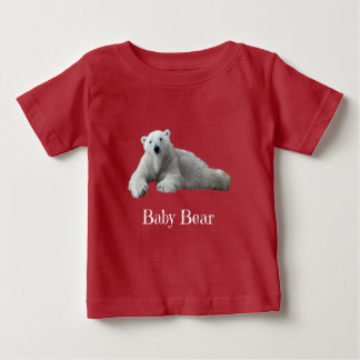 Baby Bear (part of Dad & Me!) white text Baby T-Shirt