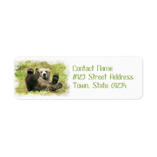 Baby Bear Return Address Label