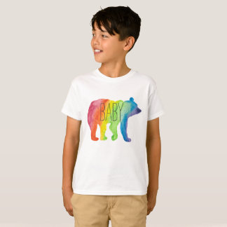 Baby Bear Watercolor Family Pride Kids Tee