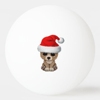 Baby Bear Wearing a Santa Hat Ping Pong Ball