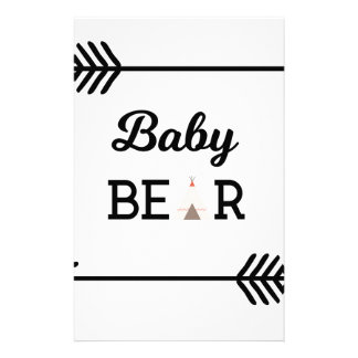 Baby Bear with Arrows Stationery Paper
