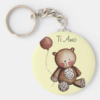 Baby Bear with Balloon Key Chain