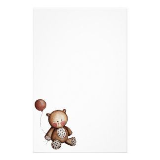 Baby Bear with Balloon Stationery