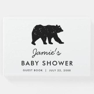 Baby Bear Woodland Modern Baby Shower Guest Book