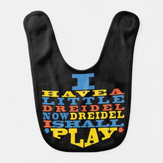 """Baby Bib Chanukah/Hanukkah """"Dreidel Play"""""""