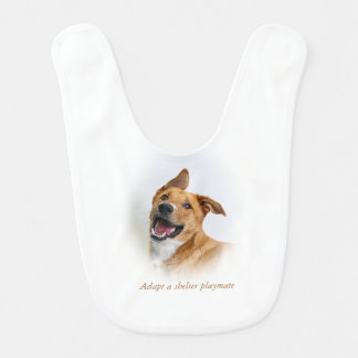 baby bib featuring Oscar who wants to be a Lab